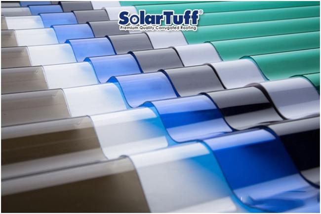 tấm nhựa poly dạng sóng Solartuff
