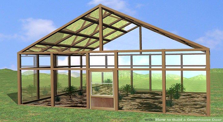 Hướng dẫn làm cửa nhà kính khung gỗ trồng rau hoa