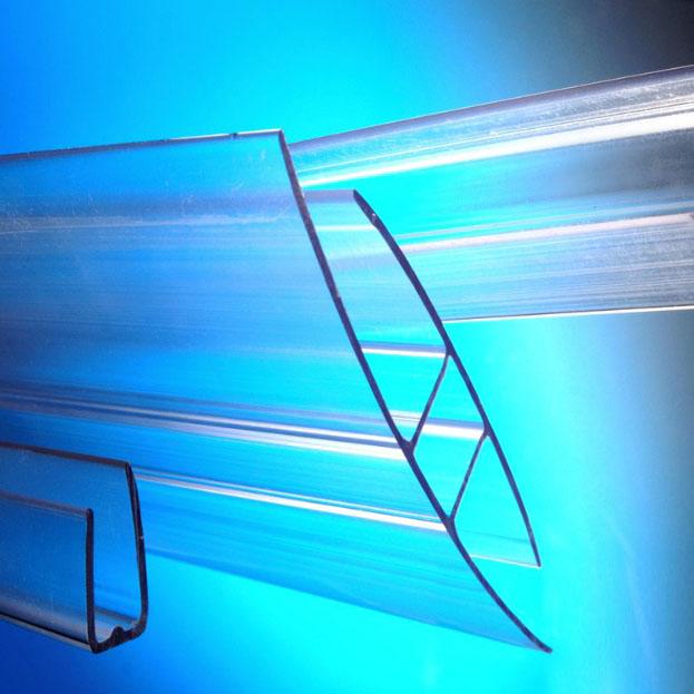 Nẹp nhựa polycarbonate chữ H dùng thi công tấm lợp lấy sáng